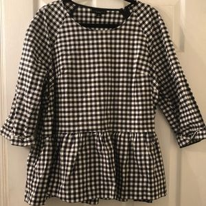 VictoriaBeckham for Target Navy/ White Gingham Top